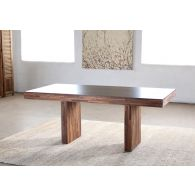 Recycled Wood Block Dining Table