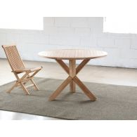 Natural Teak Round Dining Table