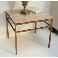 Mitchell Gold Van Dyke Stone Side Table