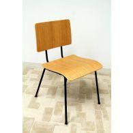 School Chair in Natural Oak