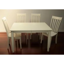 Simple Rectangular Dining Table in Shore White