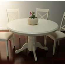 Shore White Pedestal Dining Table