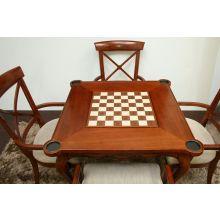 European Legacy Card Table in Macadamia