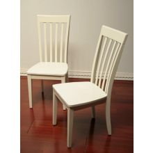 Slat Back Side Chair in Shore White