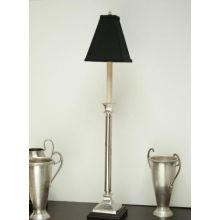 Pewter Buffet Lamp with Shade