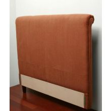 Rust Stitched Queen Headboard