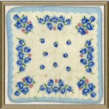 Vintage Silk Handkerchief II 18W X 18H