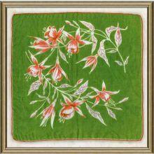 Vintage Silk Handkerchief III 18W x 18H