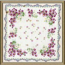 Vintage Silk Handkerchief IV 18W x 18H