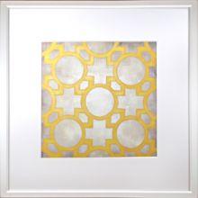 Custom Classical Symmetry - Yellow 25W x 25H