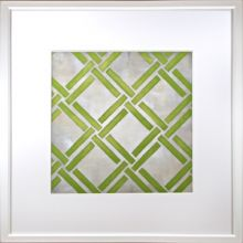 Custom Classical Symmetry - Yellow Green 25W x 25H