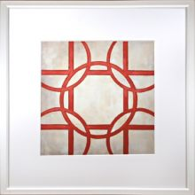 Custom Classical Symmetry - Red 25W x 25H