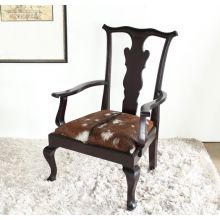 Oly Bobby Chair in Dark Brown with Goatskin Upholstery