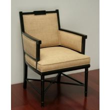 Davenport Arm Chair in Copper Noir Finish
