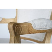 Natural Oak French Chair with Natural Cotton Upholstery