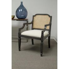 Mahogany Arm Chair with Rattan Back