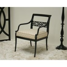 Grace Arm Chair with Onyx Finish