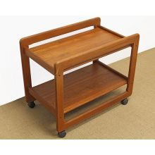 Teak Mid Century Bar Cart