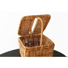 Wicker Basket With Lid And Handle