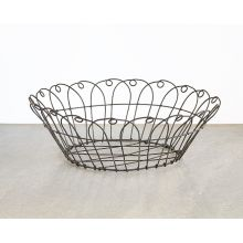 Black Metal Wire Basket