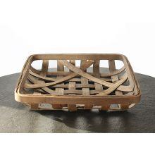 Open Weave Wooden Basket