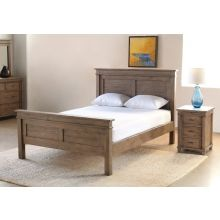 Settler Queen Bed in Sundried Ash