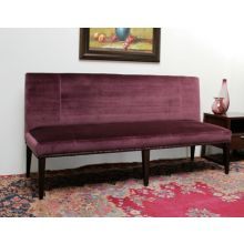Grape Velvet Armless Loveseat/Bench