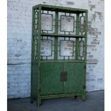 Crackled Green Chinese-Style Bookcase