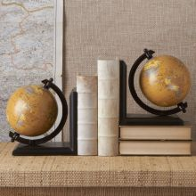 Pair of Decorative Globe Bookends