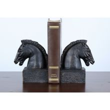 Pair of Bronze Iron Horsehead Bookends