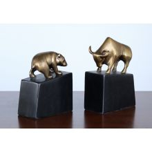 Set of Bull and Bear Bookends