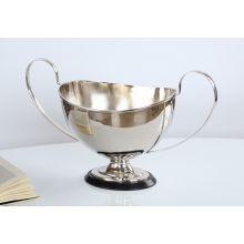 Nickel Finish Brass Trophy Centerpiece