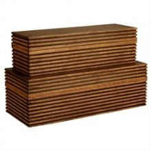 Set of 2 Trinity Wooden Boxes