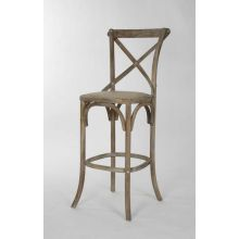 Limed Gray Oak French Cafe Bar Stool