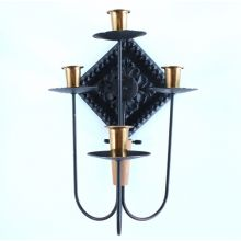 Mid-Century Modern Gothic Candle Sconce with Plate Mount