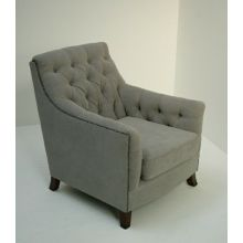 Light Gray Randolph Club Chair With Nailhead Trim