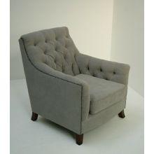 Light Gray Randolph Club Chair With Nailhead Trim