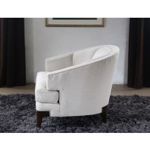 Channel Back Club Chair with Nailhead Accents