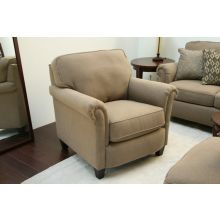 Taupe Rolled-Arm Club Chair