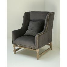 Vivian Chair in Gray Velvet