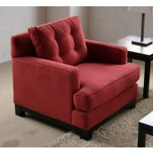 Light Raspberry Contemporary Club Chair