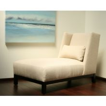 Woven Sand Nubby Upholstered Chaise