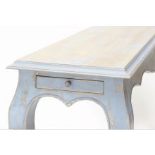 Light Blue Distressed French Style Console