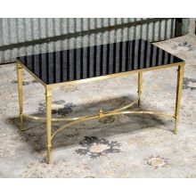 French Cocktail Table with Black Granite Top