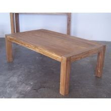 Rustic Wood Parsons Coffee Table