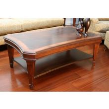 Transitional Style Mahogany Coffee Table