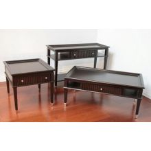 Broadway End Table with 1 Drawer and Chrome Feet