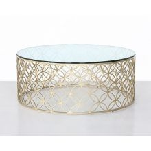 Gold Interlocking Circles Coffee Table