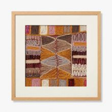 Burgundy Embroidery 5 20W X 20H - Cleared Decor