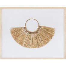 Isla Framed Necklace Of Organic Grasses 30W X 23H